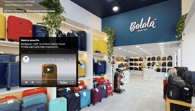 Recorrido virtual tienda Balalá